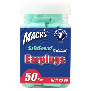 Hộp 50 đôi nút bị tai chống ồn Mack s Safe Sound dành cho ngủ ngon