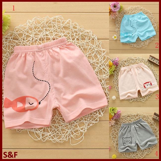 Summer Boys Girls Breathable Cotton Cute Printing Shorts