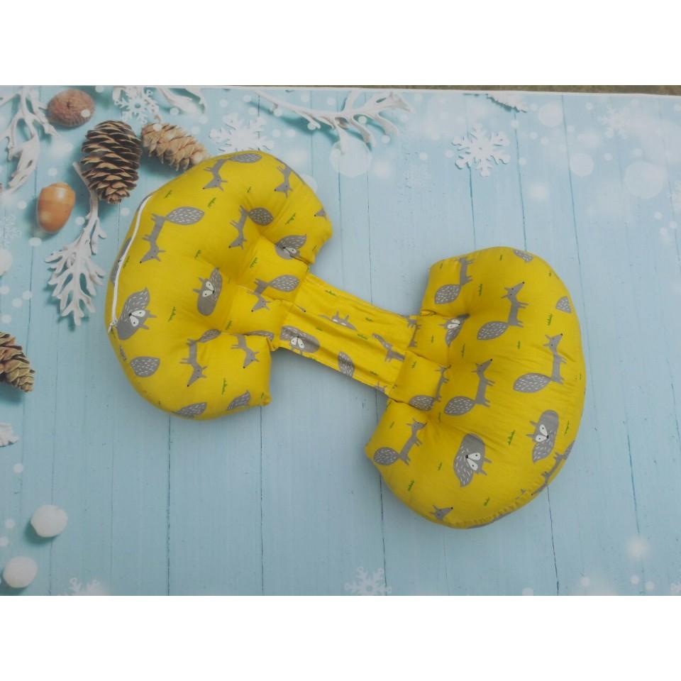 Gối bầu Gobaba vải cotton lụa Hàn Quốc, bông mềm mại giúp mẹ ngủ ngon con khỏe mạnh