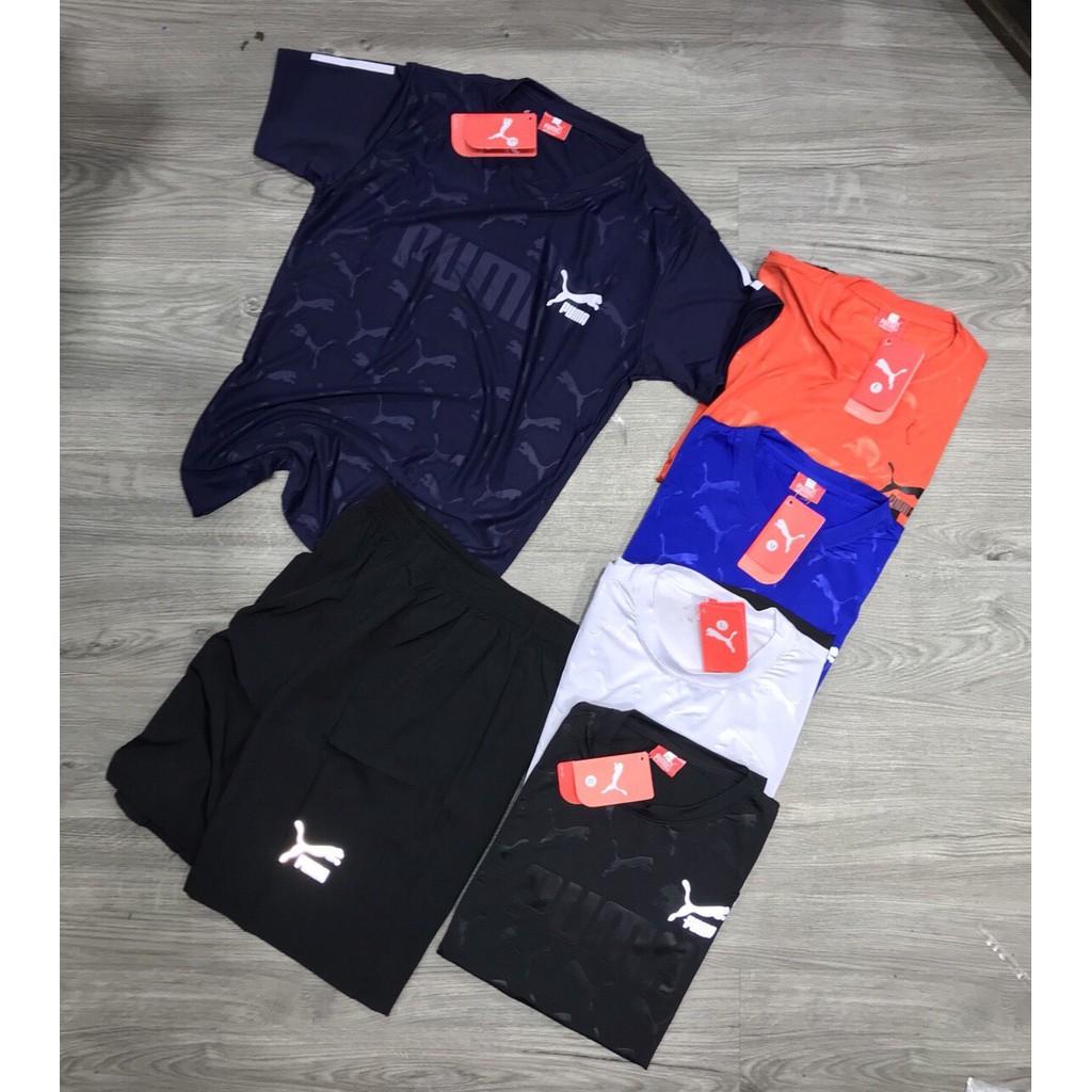 Bộ thể thao nam bộ đồ nam cổ tròn thun lạnh 6 màu KC-02