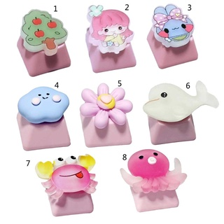 QJ Only Keycap Pink Cute DIY Original PBT Keycap 1PC for Mechanical Keyboard Installation Cherry Profile R4 Height