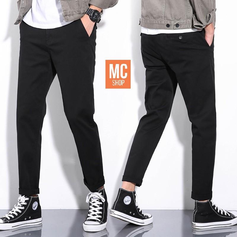Quần kaki nam dáng ôm co giãn nhẹ phù hợp đi làm, đi chơi năng động trẻ trung- MC shop [freeship]