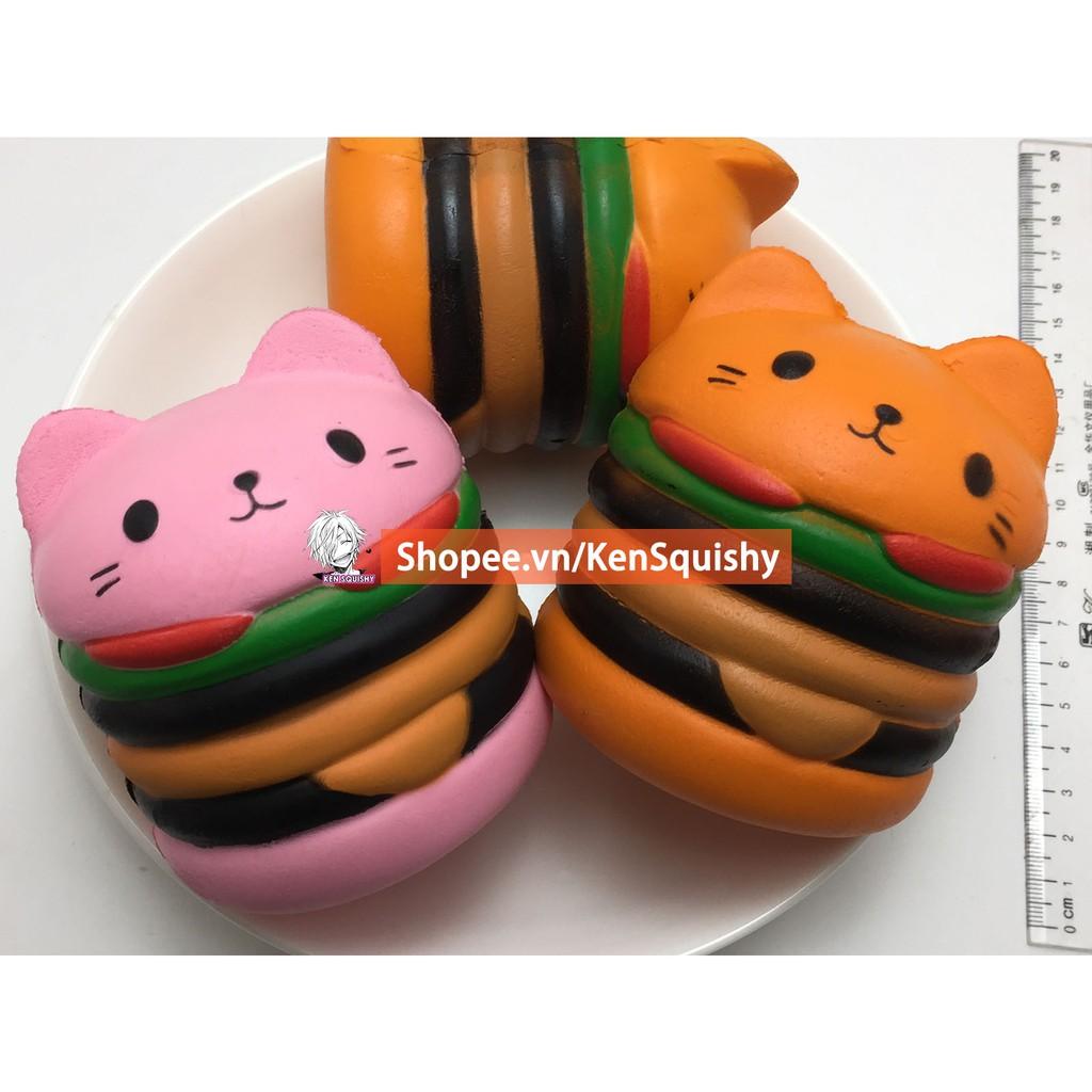 Squishy Bánh Hamburger Mèo