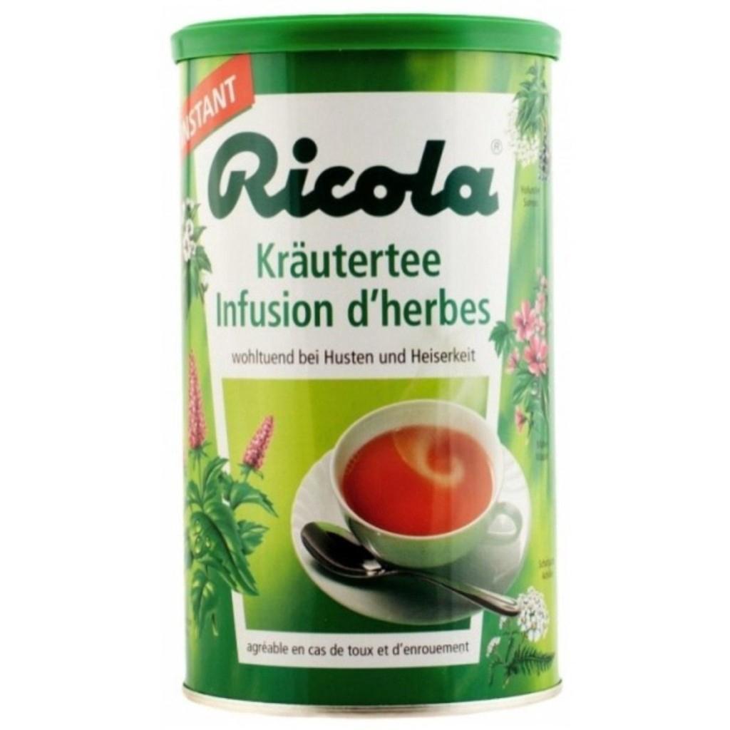 Ricola Herb Instant Tea ริโคล่าชาผงสำเร็จรูปสมุนไพร 200g.icola Herb Instant Tea ริโคล่าชาผงสำเร็จรูปสมุนไพร 200g.