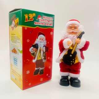 Đồ chơi ông già noel đứng đánh đàn quà tặng giáng sinh