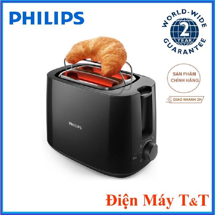 [Mã 208ELSALE hoàn 7% đơn 300K] Máy nướng bánh mì Philips HD2582 830W, Hàng phân phối chính hãng