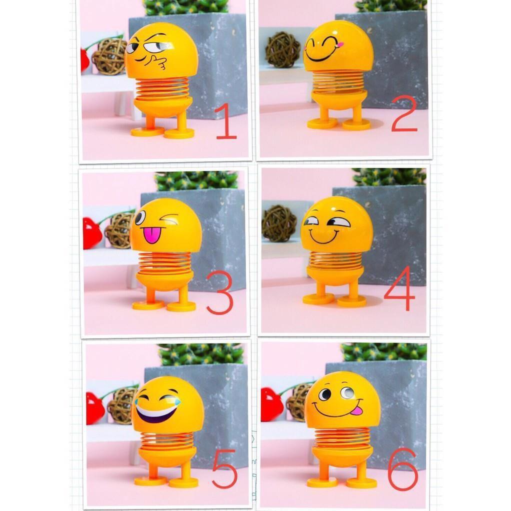 [Nhập mã TOYJUNE giảm 10K]Combo 7 thú nhún Emoji lò xo ô tô hình biểu tượng cảm xúc_rẻ vô địch