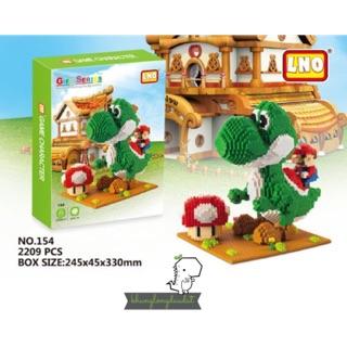 [Có Sẵn] Mini Block – Mô Hình Lắp Ghép – Lego Khủng Long Yoshi