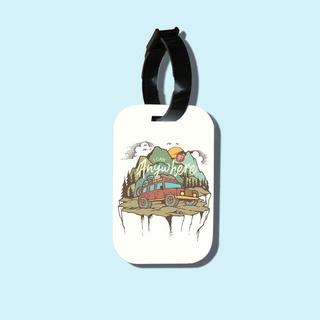 Travel tag cho túi xách balo du lịch in hình I Can go Anywhere thumbnail