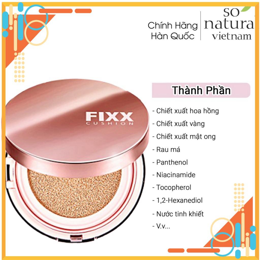 Phấn Nước Trang Điểm Lâu Trôi Glow Fixx Cushion SPF50+ / PA++++ SoNatural Nhập Khẩu  Hàn Quốc Chuẩn giá rẻ