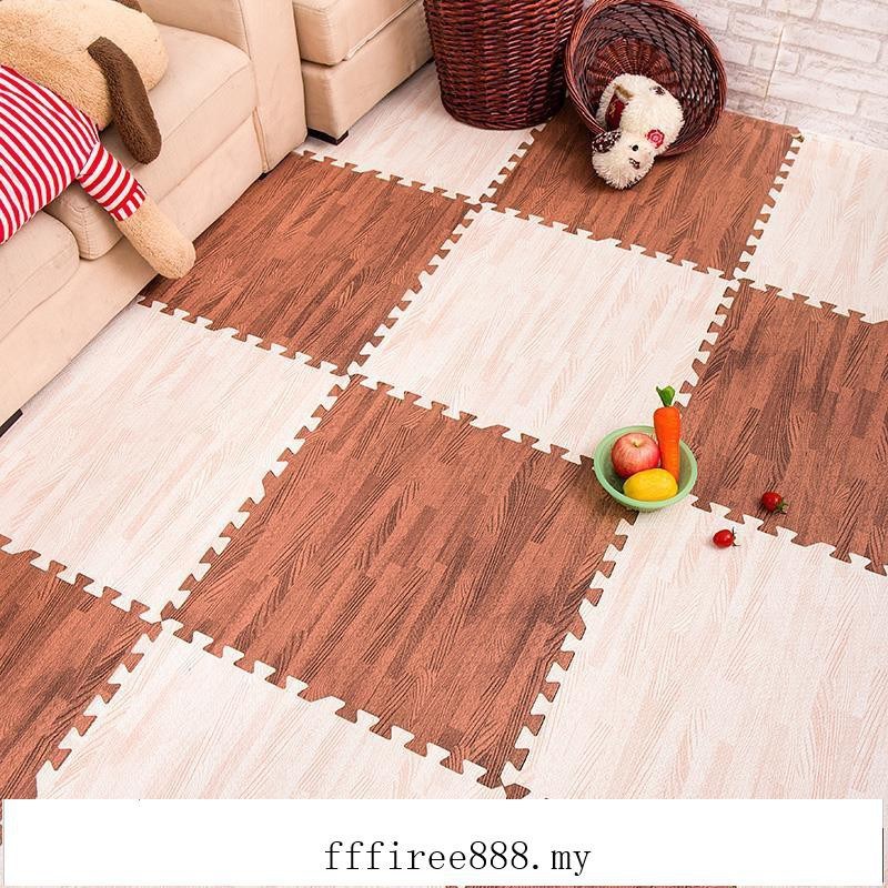 Baby crawling mat thick stitching children's bedroom foam puzzle floor mat wood