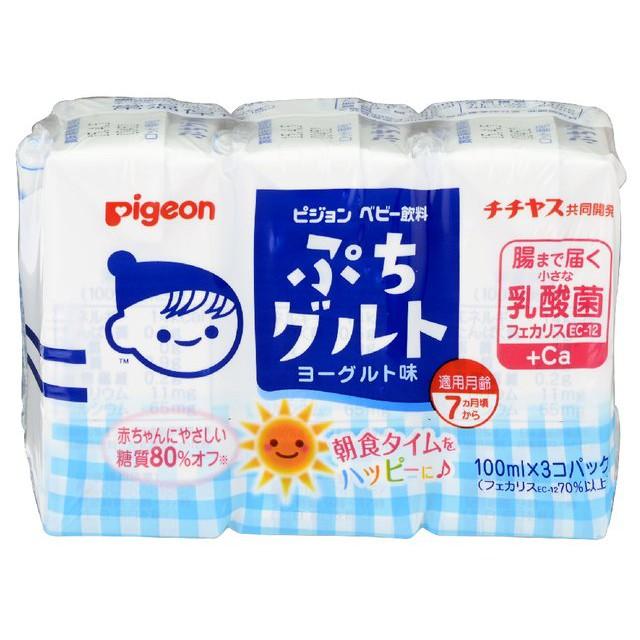 Nước hộp sữa chua Petit Goult của PIGEON - lốc 3 hộp 125m