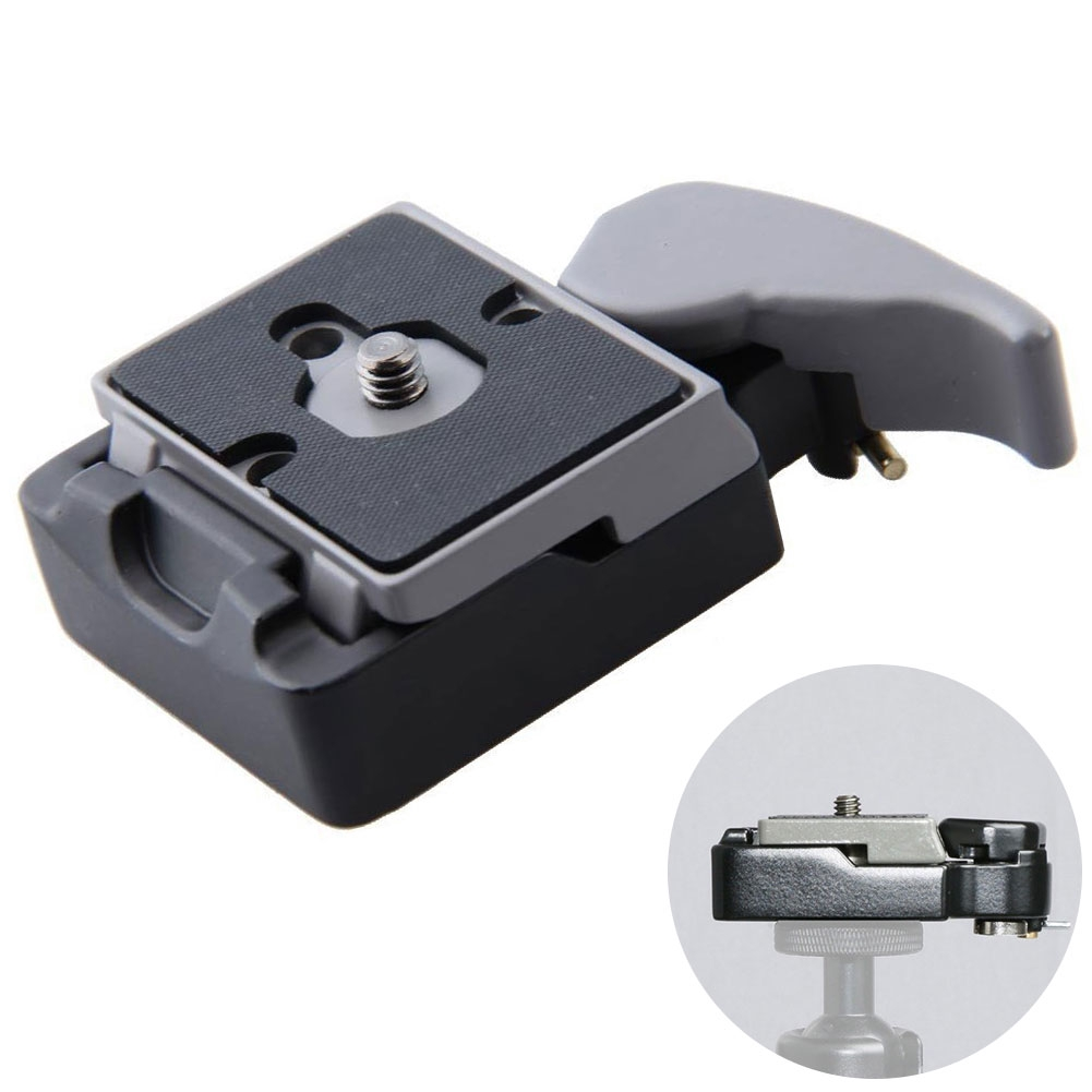 Mini Quick Release For Manfrotto 200PL-14 Professional Compat Plate Clamp Adapter Convenient Camera Supplies Practical