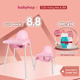 Ghế ăn dặm cho bé Glosby Babyhop kèm mặt bàn,ăn dặm kiểu nhật & BLW, 2 chế độ chân, kèm mặt bàn, cho bé từ 6 tháng