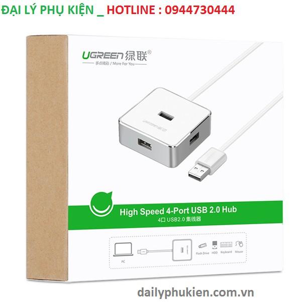 Bộ chia USB 2.0 ra 4 cổng Ugreen UG-30426 ( màu trắng)