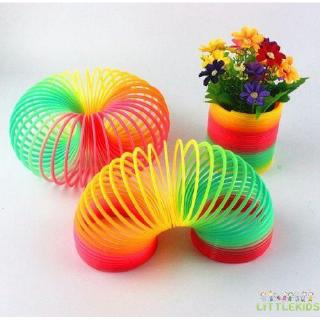 ♛♚♛Fun Baby Rainbow Color Plastic Circle Toys