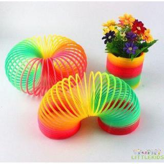 ♛♚♛Fun Baby Rainbow Color Plastic Circle Toys