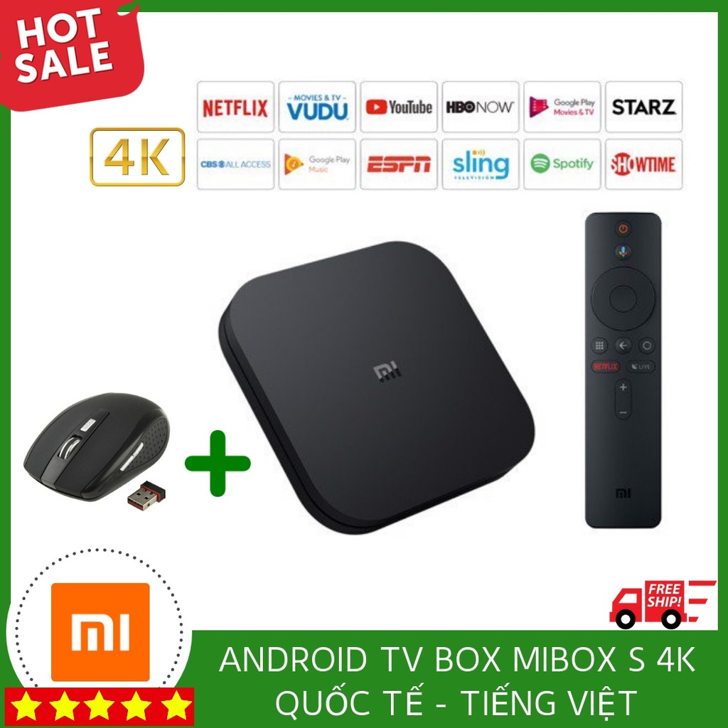 [ SALE 39% ] ANDROID TV BOX MIBOX S 4K QUỐC TẾ - TIẾNG VIỆT