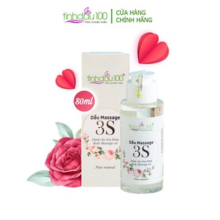 [Tặng video HD massage] Dầu massage bôi trơn 3S dành cho các cặp đôi, hương thơm hoa hồng quyến rũ 80ml Tinh Dầu 100 thumbnail