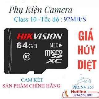 Thẻ nhớ Micro SD 64GB Tốc độ đọc nhanh,Class10 ổn định, tốc độ cực cao,lưu hình ảnh tốt– Thẻ nhớ Micro BẢO HÀNH 24 THÁNG
