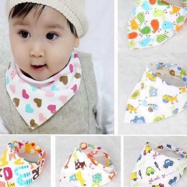 [Mã MKBCSALE7 giảm 8% đơn 250K] Yếm tam giác cotton có nút cài cho bé
