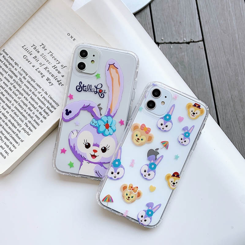 Silicone Case iphone 11 Pro X XS XR Max 8 7 6 6S Plus Soft Cute Rabbit Cartoon Airbag Phone Cover
