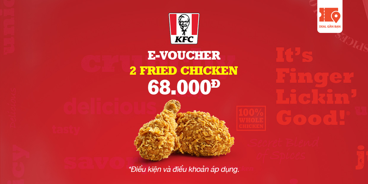 E-VOUCHER KFC 2 FRIED CHICKEN