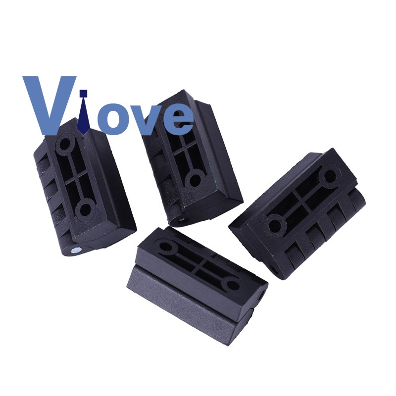 4 pieces Hinges for cabinet doors, made of plastic, reinforced, 40 x 40 mm