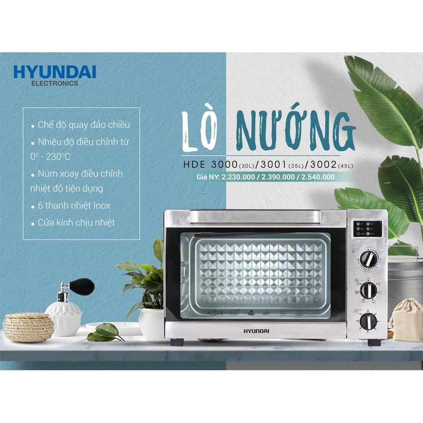 Lò nướng điện Hyundai HDE 3002S 45L