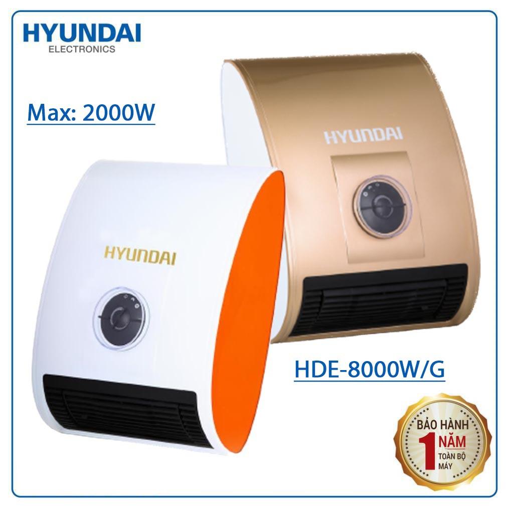 Máy sưởi đa năng Hyundai HDE-8000W/G công suất 2000W - Hàng chính hãng, bảo hành 12 tháng (giao màu ngẫu nhiên)