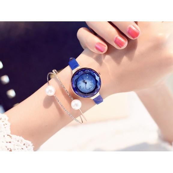 Đồng hồ nữ Yhao thời trang Hàn Quốc dây da mảnh thiết kế mới hot trend 2018