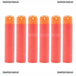 [Crown]6 Pcs Refill Foam Bullet Darts for Nerf N-Strike Elite Mega Centurion Red [VN]