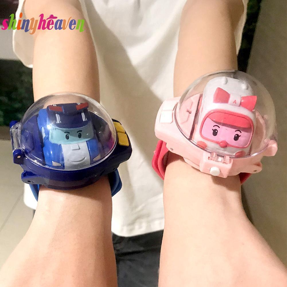[SH]Remote Control Watch Cartoon Car Fashion Mini Police Ambulance Child Kid Puzzle Toy