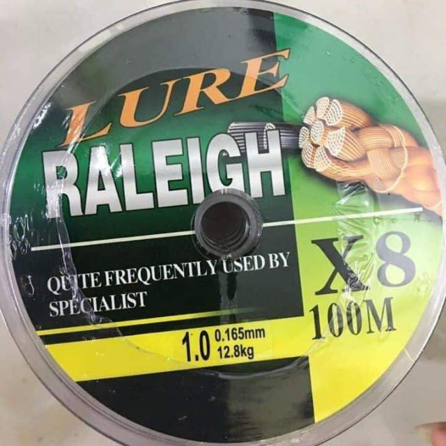 Dây dù câu cá Lure Raleigh X8 dài 100m - Dây dù PE 7 màu Raleigh X8 Siêu Bền hàng chất lượng Nhật Bản