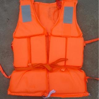 1xOrange Useful Prevention Flood Adult Foam Swimming Life Jacket Vest + Whistle