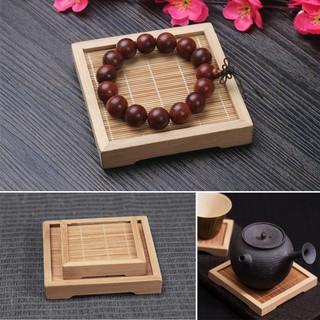 Yêu Thích[Phụ kiện chụp ảnh] Đế lót bằng tre phong cách Nhật Bản