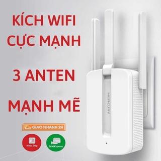 Cục thu phát wifi 3 râu Mercury MW310RE,kích sóng wifi cực mạnh