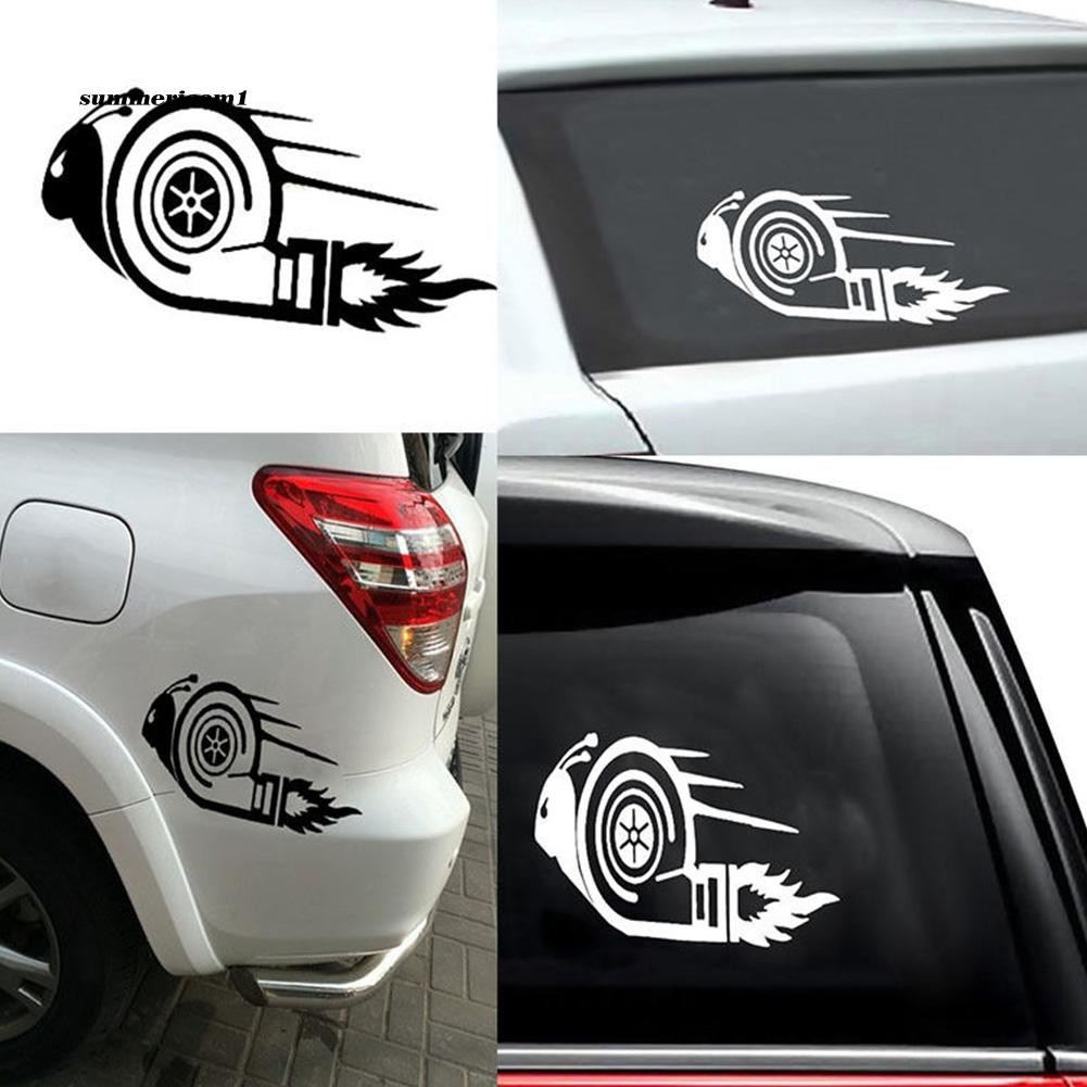 【SUCM】Stylish Turbo Snail Racing Car Motorcycle Decal Reflective Sticker Decoration