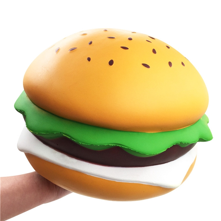 Giant Squishy Cheese Burger Humongous Hamburger Jumbo Gift Collection Decor Toys