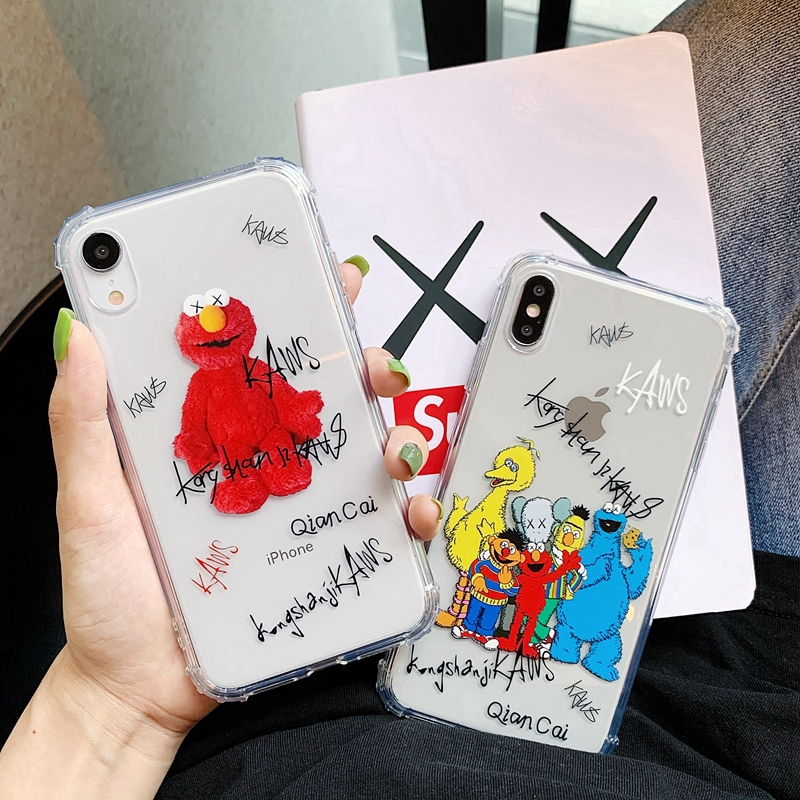 Creative Cartoon case for IPhone 6s 6splus 7 8plus IPhone X XR Xmax soft Protective Cover Giá chỉ 80.000₫