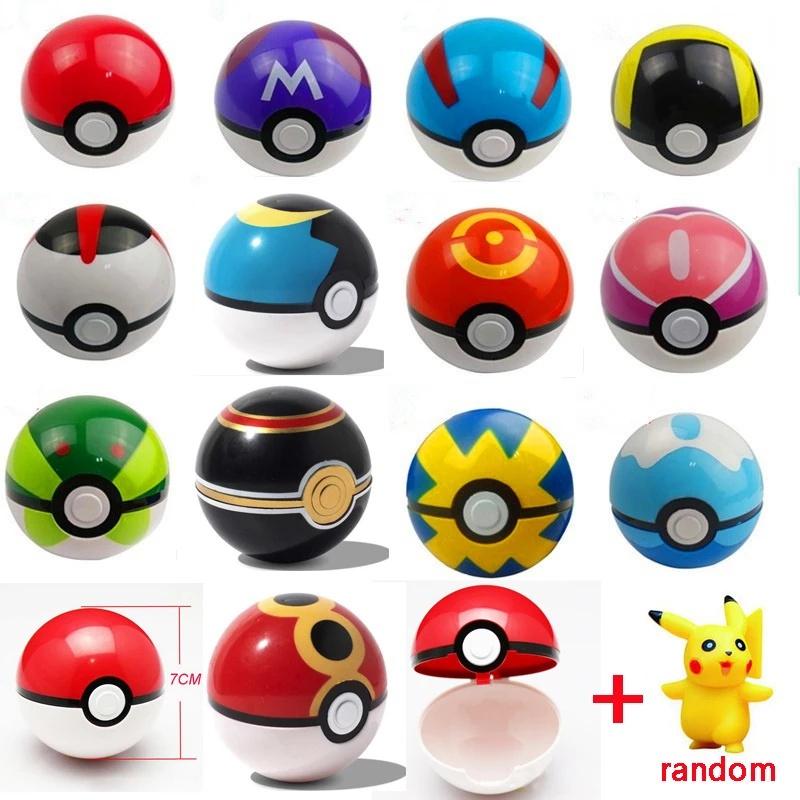 1 mô hình quả cầu pokemon đồ chơi cho bé