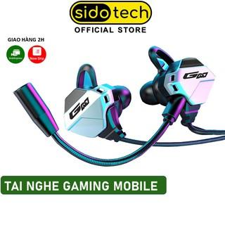 Tai nghe gaming chơi game cho điện thoại SIDOTECH G11 có mic chơi PUBG mobile FF ROS Tốc chiến mic rời 360 thumbnail