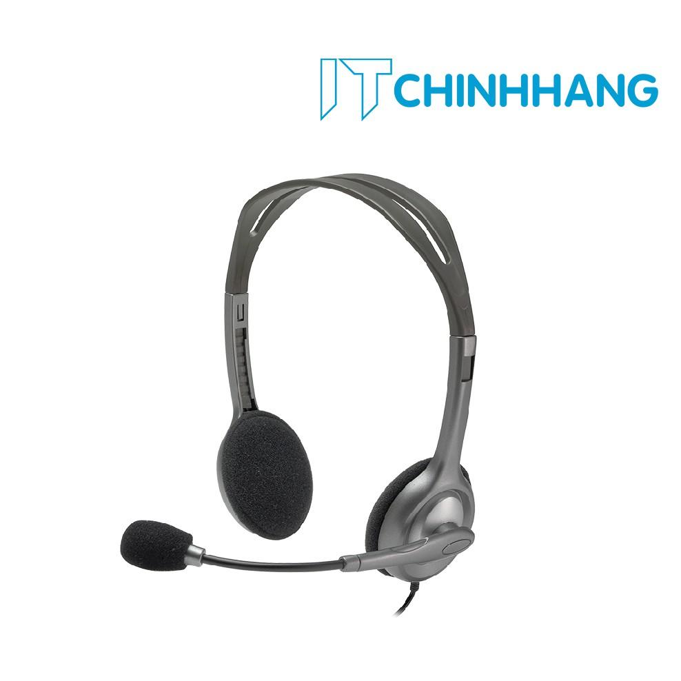 Tai nghe chụp tai Logitech Stereo H111 - HÃNG PHÂN PHỐI CHÍNH THỨC