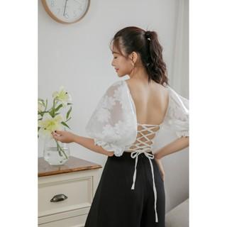 Áo kiểu dây đan lưng Go t De Jun MIKAN TOP thumbnail