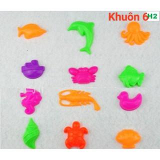 Khuôn nặn cát nhiều hình dạng cho bé 6 khuôn/ bộ (màu ngẫu nhiên)