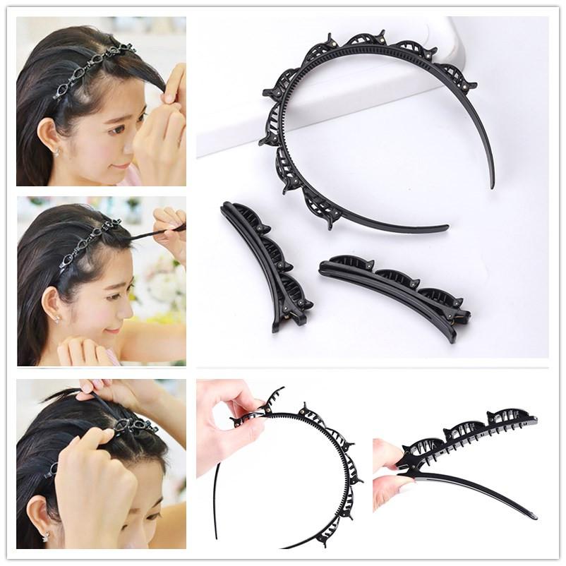 (Hàng Mới Về) Kẹp Tóc Mái Kép Thời Trang Cho Nữ
