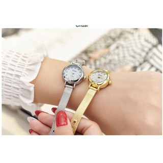 Đồng Hồ Nữ YUHAO 8008 Hàng Chính Hãng Mặt Tròn Size Nhỏ Xinh ( Y10 Vàng Trắng) thumbnail
