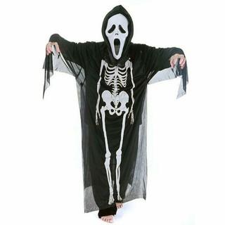 Trang phục hóa trang Halloween. Áo bộ xương, mặt nạ, bao tay-e99