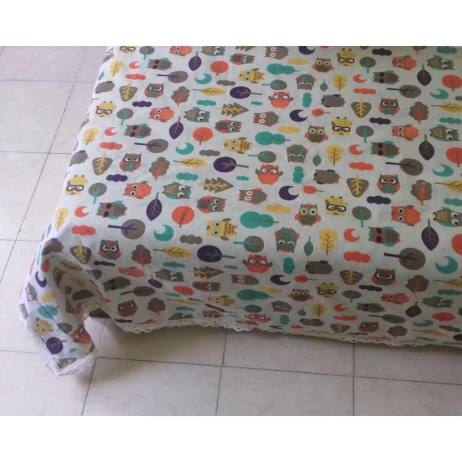 Khăn trải bàn vải thô mẫu cú tròn - 10078258 , 191261427 , 322_191261427 , 105000 , Khan-trai-ban-vai-tho-mau-cu-tron-322_191261427 , shopee.vn , Khăn trải bàn vải thô mẫu cú tròn