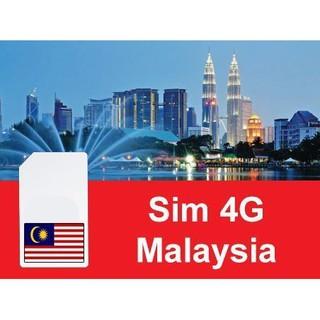 [Mã ELJAN10K giảm 10K đơn 20K] SIM DU LỊCH MALAYSIA KHÔNG GIỚI HẠN DATA
